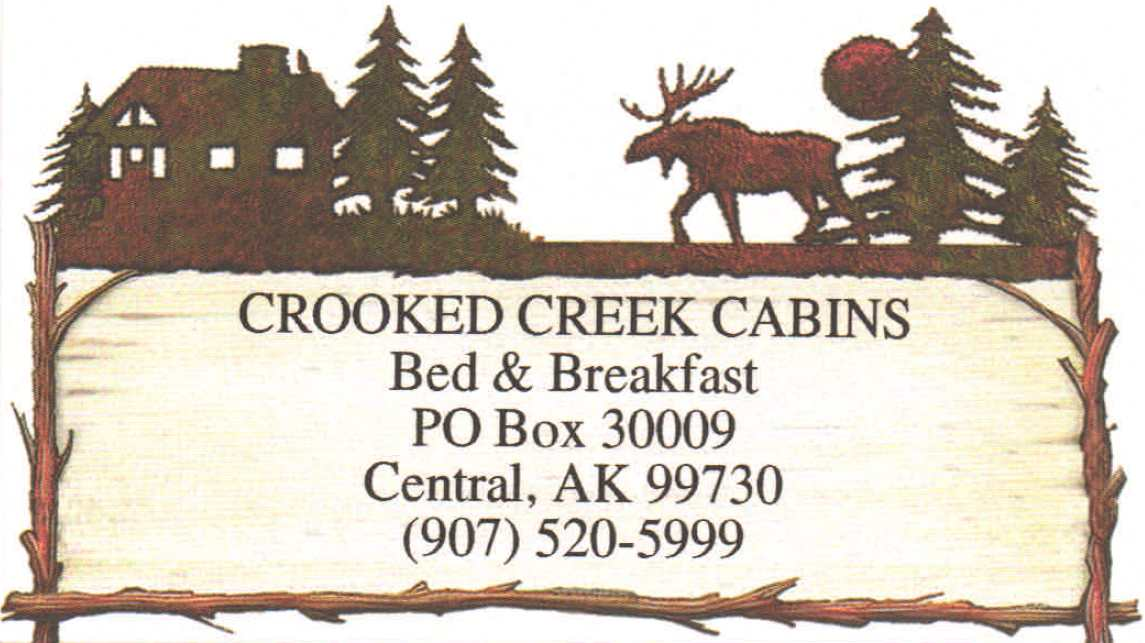 Crooked Creek Bead and Breakfast 907-520-5999